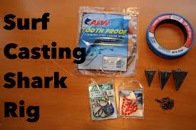 how to make a shark rig for surf casting tackle tuesday 2 youtube