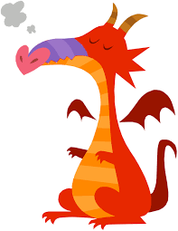 dragon drawing coloring child coloring clip art library