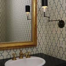 Black And White Wallpaper For Bathrooms - white and black moroccan wallpaper design ideas