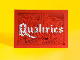 qualtrics theme design qualtrics christmas card typography typography letters and logos