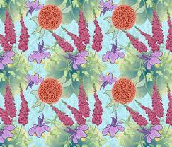 japanese flower garden fabric revolutionaryvision spoonflower