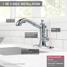 delta faucet 4197 rb dst cassidy single handle pull out kitchen