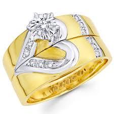 Wedding Rings Sets by Wedding Ring Sets Diamond Bridal Engagement Ring Set Goldenmine