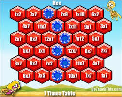 Multiplication Table Games by Multiplication Table Games Printable Brokeasshome Com