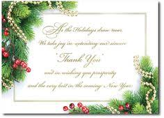 Happy New Year Business Card Business Appreciation Holiday Greeting Cards Express Your Thank