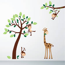 28 monkey wall sticker hanging monkey wall decal monkey monkey wall sticker monkey and giraffe jungle wall sticker stickers wall