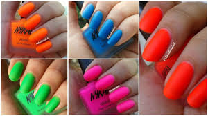 nykaa neon matte nail lacquer swatches and review matte