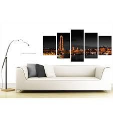 london eye canvas prints uk night for your living room set of five item number 5186