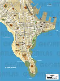 Senegal Map Geoatlas City Maps Dakar Map City Illustrator Fully