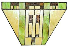 Stained Glass Wall Sconce Lyndell Mission 9 Light Wireless Stained Glass Sconce By River Of