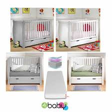 Sleigh Cot Bed White 4baby 3 In 1 Sleigh Cot Bed With Storage Drawer