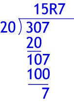 long division u2013 2 digits by 1 digit u2013 with remainder 8