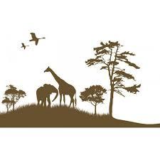 stickers savane chambre bébé stickers savane elephant girafe chambre bébé