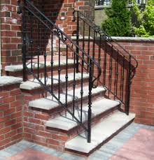 Metal Stair Rails And Banisters Aluminum Railings For Outdoor Decks Outdoor Metal Stair Railings