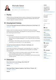 American Resume Example 7 Food And Beverage Attendant Resume Samples Resumeviking Com