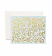 best wishes for wedding card best wishes greeting card by rifle paper co made in usa