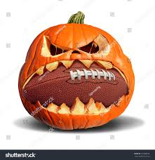 autumn football concept pumpkin jack o stock illustration