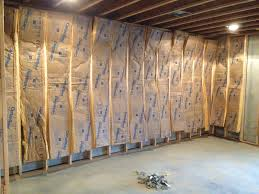 the basic material for insulating basement walls basement