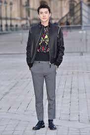 exo member sehun at louis vuitton u0027s fall 2017 runway show vogue