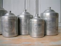 country canisters for kitchen french vintage kitchen canister set in aluminum set of 6 french