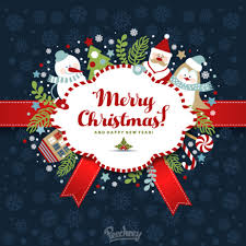 merry christmas and happy new year best wishes illustration peecheey