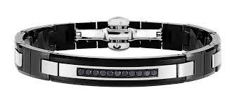 ceramic bracelet images Zancan stainless steel black ceramic bracelet with black spinel jpg