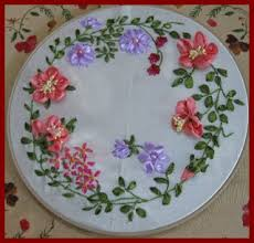 ribbon flowers vani s 2 ribbon embroidery with ribbon flowers
