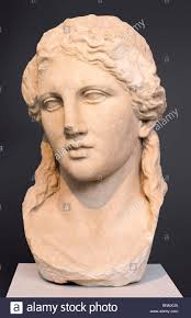 head of dionysos in the archaeological museum of thasos from the