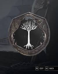 my for honor emblem the white tree of gondor lotr