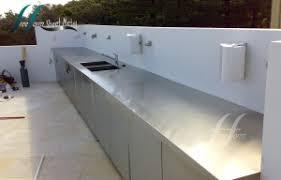 Stainless Steel Bench Top Kitchen U0026 Outdoor Bench Areas Freeform Sheet Metal