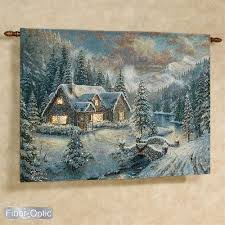 kinkade high country lighted wall tapestry