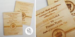 wedding invitations south africa traditional wooden invite oh yay