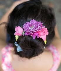 flower hair bun make a beautiful fresh flower wrap for your bun