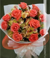 bouquet delivery dozen roses w alstroemeria bouquet