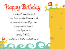 21st birthday wishes messages and 21st birthday card wordings