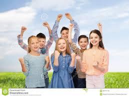 happy children celebrating victory stock photo image 65974146