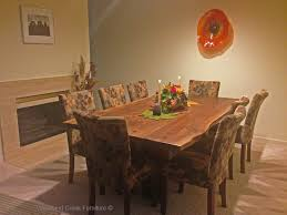 Custom Made Dining Room Furniture Natural Edge Modern Dining Table Live Edge Solid Slab Modern
