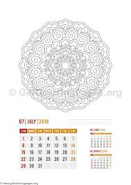 flower mandala july calendar coloring pages u2013 getcoloringpages org