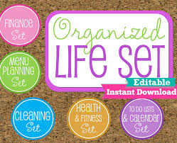organized home printable menu planner editable and instant download organized life printables home