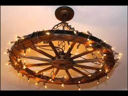 wagon wheel light fixture wagon wheel chandelier youtube