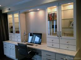 Kitchen Cabinet Features A Built In Desk With White Shaker Kitchen Cabinets From