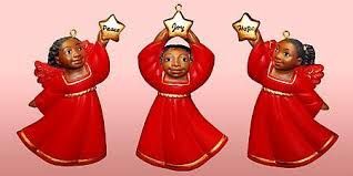 cherub african american christmas ornament set ii red the