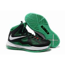 Comfortable Nike Shoes Nike Lebron 10 X Black Lucky Green White Nike Shoes For Toddlers