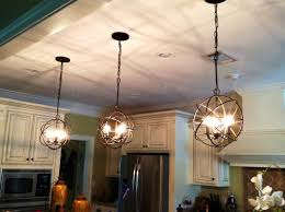 accessories orb chandelier with 3 pendant lights and refrigerator