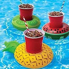 Pool Bathroom Inflatable Drink Float Holders 3pcs Summer Bath Pool Toys Cute