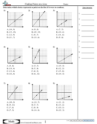 slope of a line worksheets grid worksheets