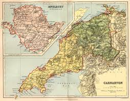 Map Of England And Wales Historical Description Of Anglesey Wales