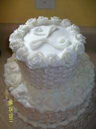 white rose and basket weave 2 tier wedding cake cakecentral com