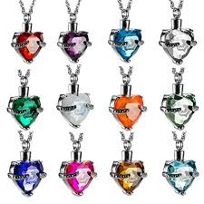 pendants for ashes always in my heart with glass cremation jewelry urn