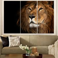 aliexpress com buy unframed animal oil painting lion king
